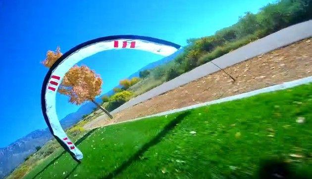 超速いドローンの自己視点映像