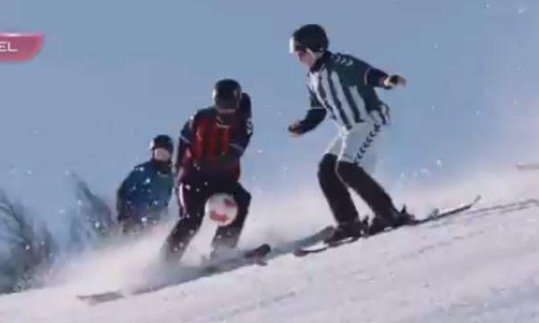 スキーとサッカーの融合、新競技
