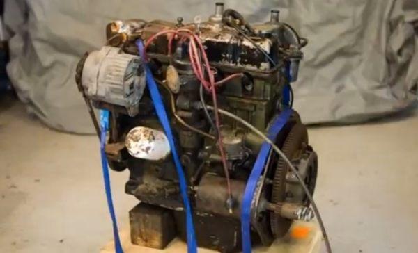 イーベイで買ったエンジンの掃除とセッティング