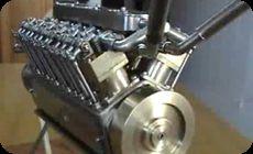ミニチュアV12エンジン