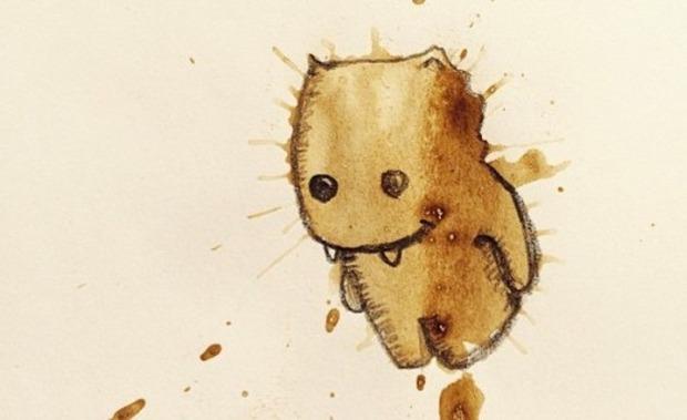 コーヒーのシミの絵