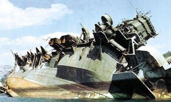アメリカによって撃沈された日本の戦艦