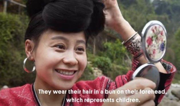 中国の髪長族