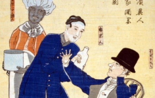 日本画で描かれた外国人の肖像