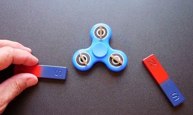 磁力でハンドスピナーを永久に回し続ける