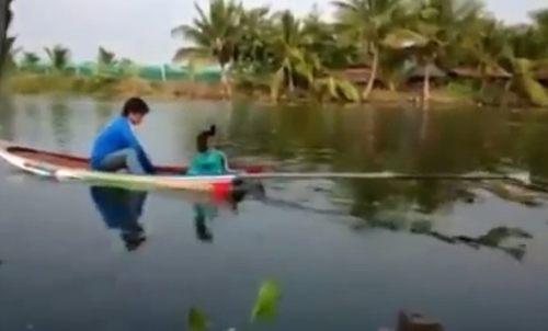 自作モーターボート