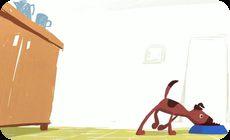 犬のアートアニメ作品