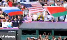 ロンドンオリンピックでアメリカの旗が落ちる