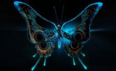グロいキモイ蝶のアートCG作品 (1)