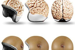 おかしなヘルメットの画像