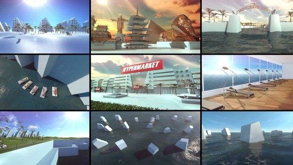 CGで作った架空の都市
