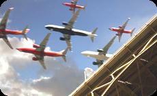 飛行機の大群タイムラプス