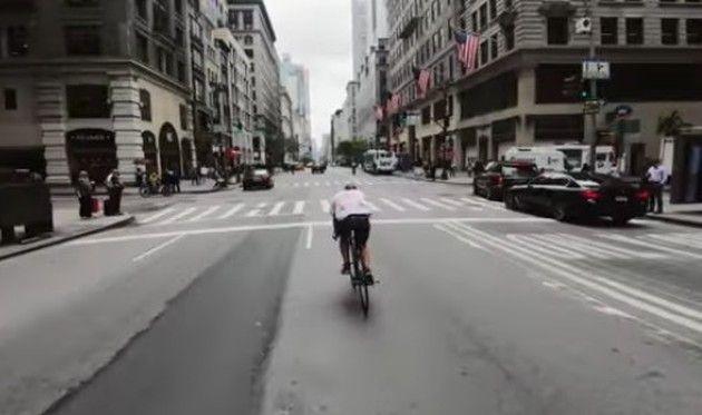 自転車でNYを爆走