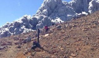 御嶽山の被災した人の動画