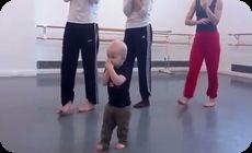 赤ちゃんインスピコンテンポラリーダンス