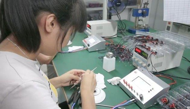 中国のドローン工場