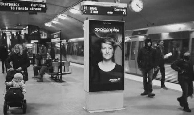 地下鉄の広告小児がん