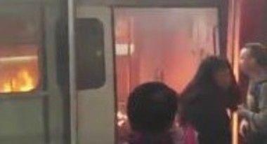 地下鉄の火事