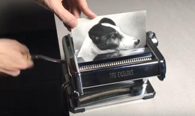 アナログ写真のシュレッダーコピー