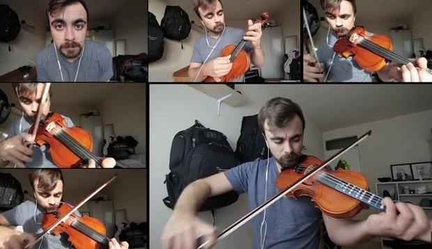 バイオリンの練習