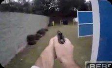 ハンドガンの射撃