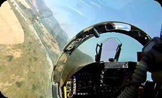 戦闘機のパイロット視点