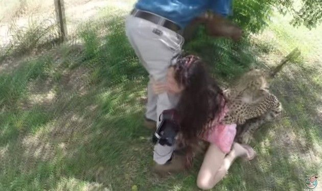 チーターに襲われた女性