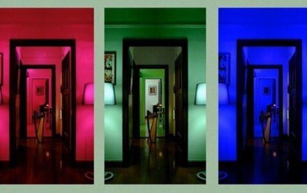 ドアと照明の芸術