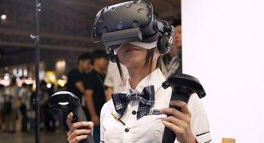 VRをしている女の子たち