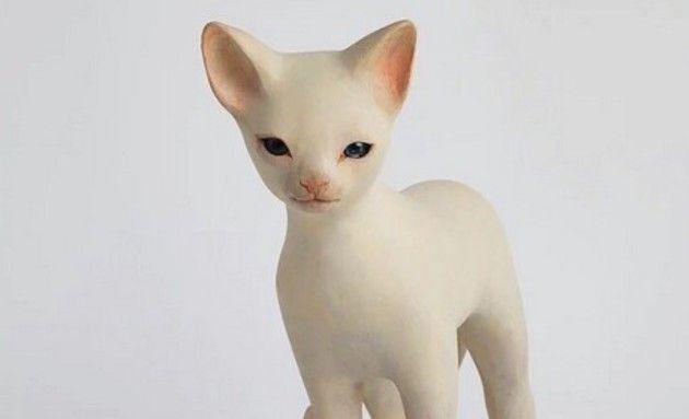 日本人作家の木彫りの動物