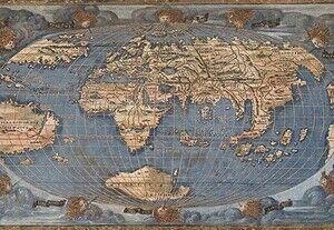 1602年に描かれた世界地図がこちらwww