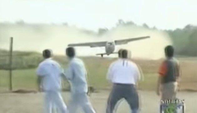 비행기 추락 포장