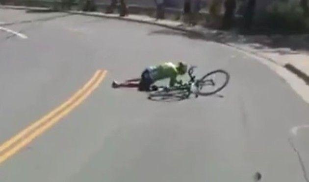 自転車レースでの事故