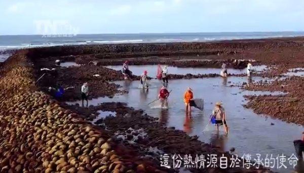 干満を利用した台湾の漁法