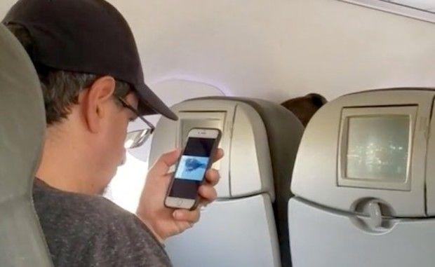 機内で911
