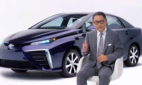 トヨタの社長、水素燃料カーCM