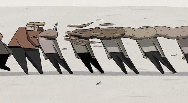 風が強いところに住む人達アニメ
