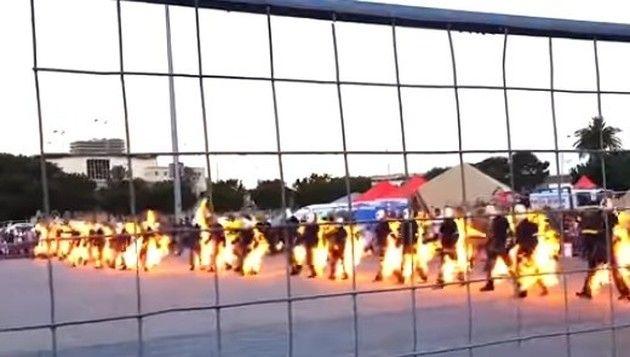 炎の行進ギネス記録