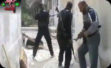 アラブの市街戦で撃たれて死亡する男性の動画 (1)