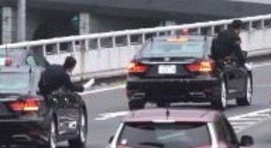 首相警護車のハコ乗り