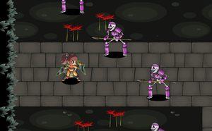 クノイチ横スクロールアクションRPG無料ゲーム