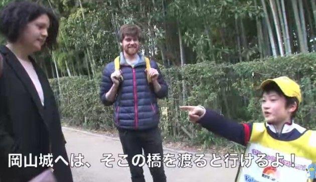 英語がペラペラの日本人少年
