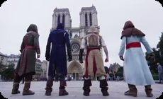 パルクールでパリの街。アサシンクリード