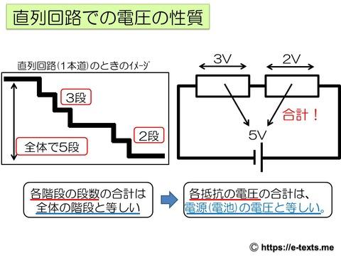 中2物理4 直列回路での電圧の性質