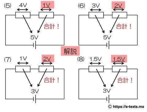 中2物理4 解説 直列回路