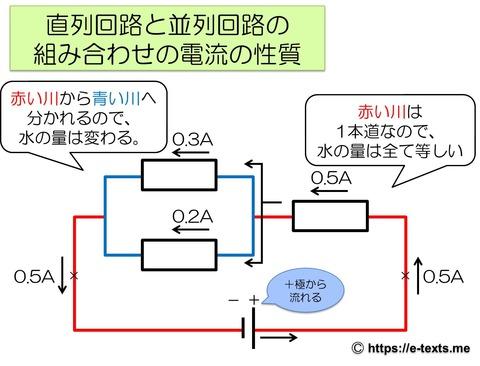 中2物理3 組み合わせでの電流の性質