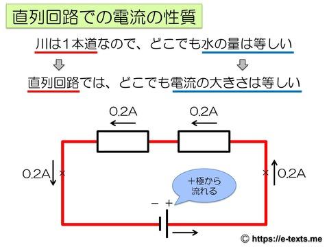 中2物理3 直列回路での電流の性質