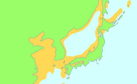 大陸と日本
