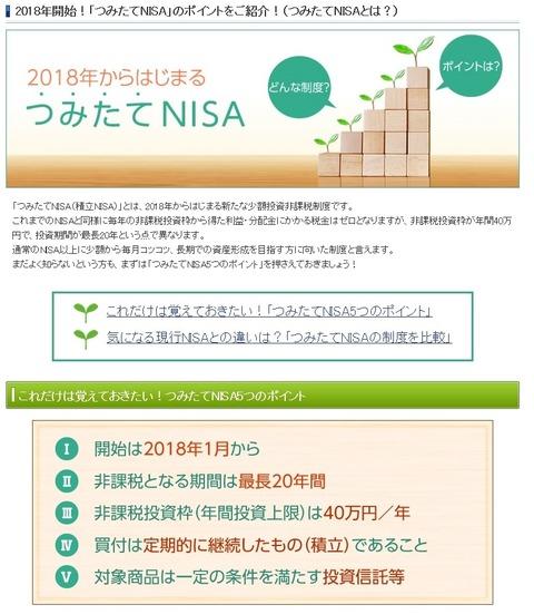 積立NISA特徴