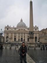 サン・ピエトロ広場記念撮影